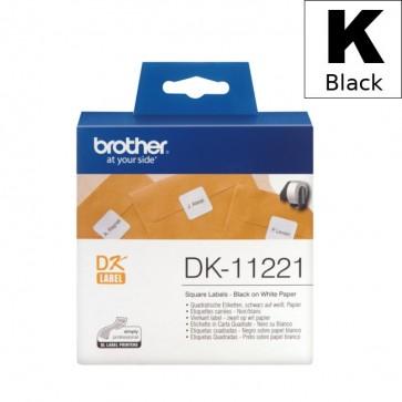 Etikete U Roli (Brother) DK11221  BK/WH 1000kom*23mm*23mm / DK-11208
