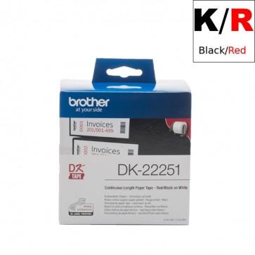 Etikete U Roli (Brother) DK22251  BK-RE/WH 15,24m*62mm / DK-22251