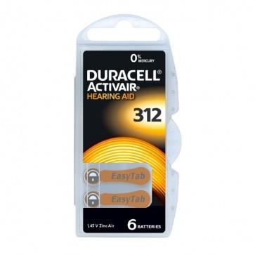 Baterija Duracell Activair 312 / PR41 6 kom