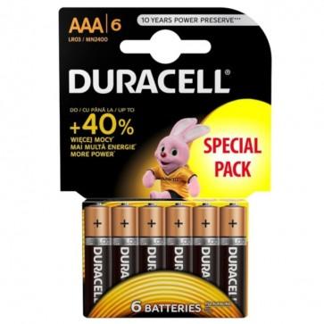 Baterija Duracell Basic AAA/LR03 MN2400 6 kom