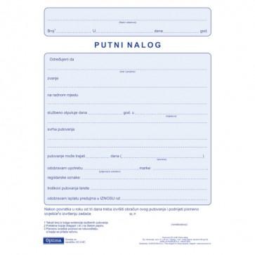 Putni nalog EC-II-8C OPTIMA P100/2000