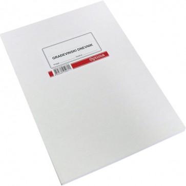 Građevinski dnevnik EC-VIII-10 meki uvez OPTIMA  P10