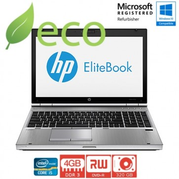 "Refurbished Prijenosno Računalo HP Elite Book 8570p I5-3320M 2,60 GHz / 15,6"" / 4GB DDR3 / 320 GB"