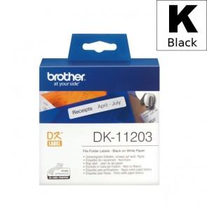 Etikete U Roli (Brother) DK11203  BK/WH 300kom*17mm*87mm / DK-11203