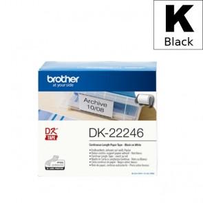 Etikete U Roli (Brother) DK22246  BK/WH 30,48m*103mm / DK-22246