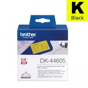 Etikete U Roli (Brother) DK44605  BK/YE 30,48m*62mm / DK-44605