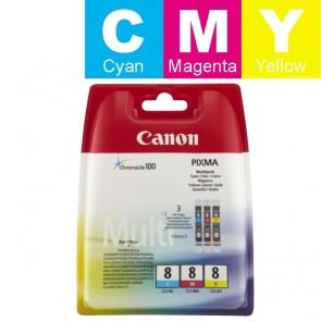 Set Tinta (Canon) CLI-8CY/MA/YE / 0621B029