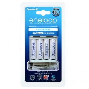 Punjač Baterija Panasonic Eneloop BQ-CC61USB + 4 x Eneloop R6 / AA 2000 mAh
