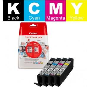 Set Tinta + Papir (Canon) CLI-581BK/CY/MA/YE XL / 2052C004