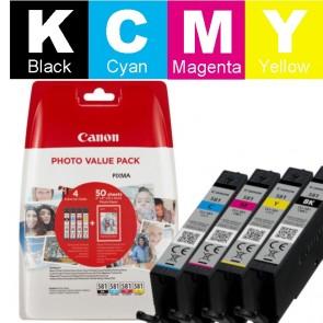Set Tinta + Papir (Canon) CLI-581BK/CY/MA/YE / 2106C005
