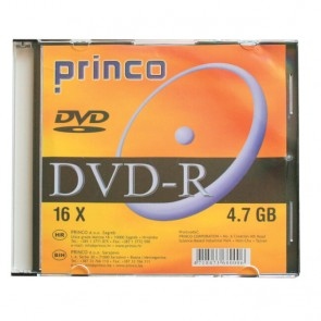 DVD-R 4,7 GB 16x PRINCO slim box DRFP P1/10