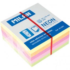 Blok samolj.kocka 50x50 Neon 5 boja 250L MILAN 411501 P12/288