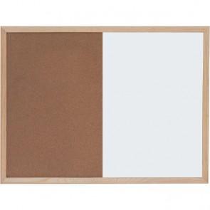 Ploča bijela magnetna/pluto zidna OPTIMA 45x60cm, drv.okvir 22372 P1/20
