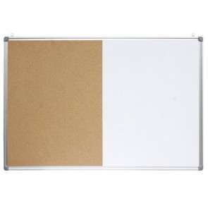 Ploča bijela magnetna/pluto zidna OPTIMA 45x60cm alu okvir 22384 P1/10