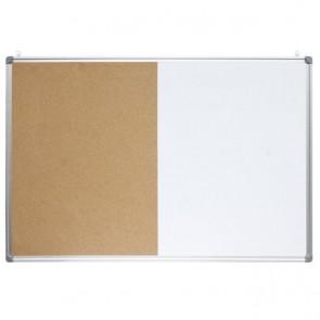 Ploča bijela magnetna/pluto zidna OPTIMA 90x120cm alu okvir 22386 P1/3