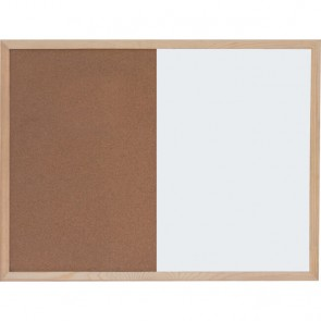 Ploča bijela magnetna/pluto zidna OPTIMA 30x40cm, drv.okvir P1/40