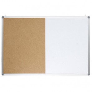 Ploča bijela magnetna/pluto zidna OPTIMA 30x45cm alu okvir P1/20