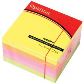 Blok samolj.kocka 76x76 neon 4 boje OPTIMA 450L 22937 P32