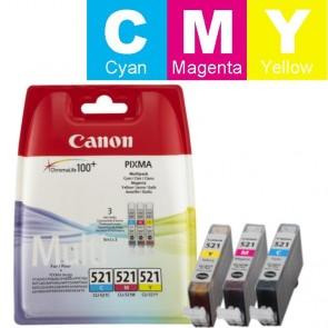 Set Tinta (Canon) CLI-521CY/MA/YE / 2934B010