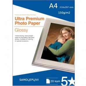 Self Adhesive Foto Glossy Papir A4 150 g/m2, Samoljepljiv