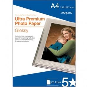 Papir Foto Glossy A4 190 g/m2 - 20 KOM