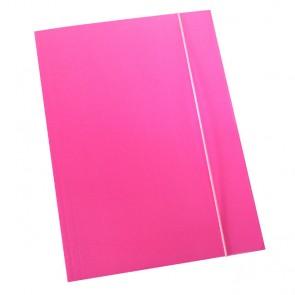Fascikl prešpan/lak s gumicom A4 600gr OPTIMA fluo roza 60670 P50