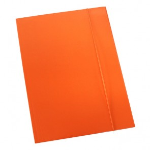 Fascikl prešpan/lak s gumicom A4 600gr OPTIMA fluo narančasti 60678 P50